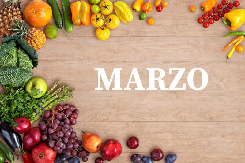 frutas y verduras de marzo