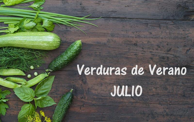 Frutas y verduras de verano: productos de temporada en julio