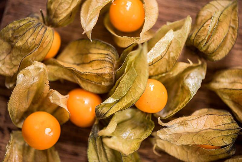 frutas exoticas physalis
