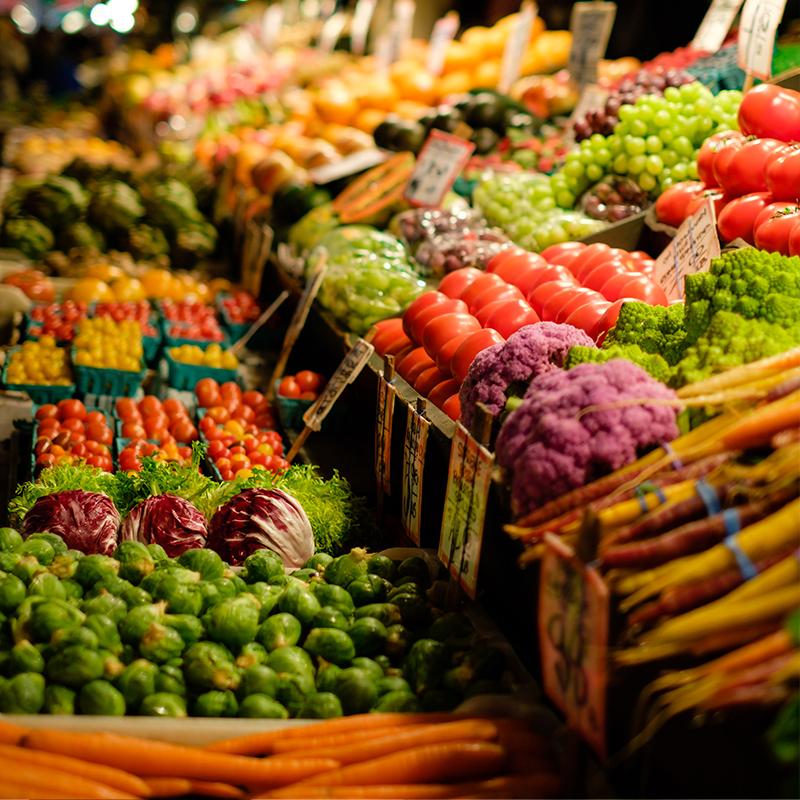Ecología en la venta de verduras