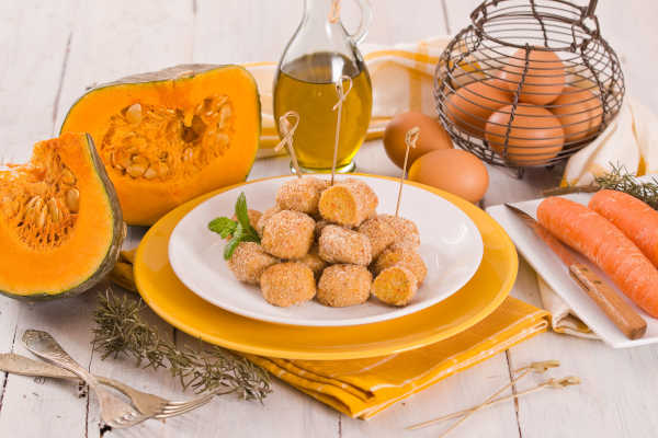 receta de croquetas de calabaza y acelgas