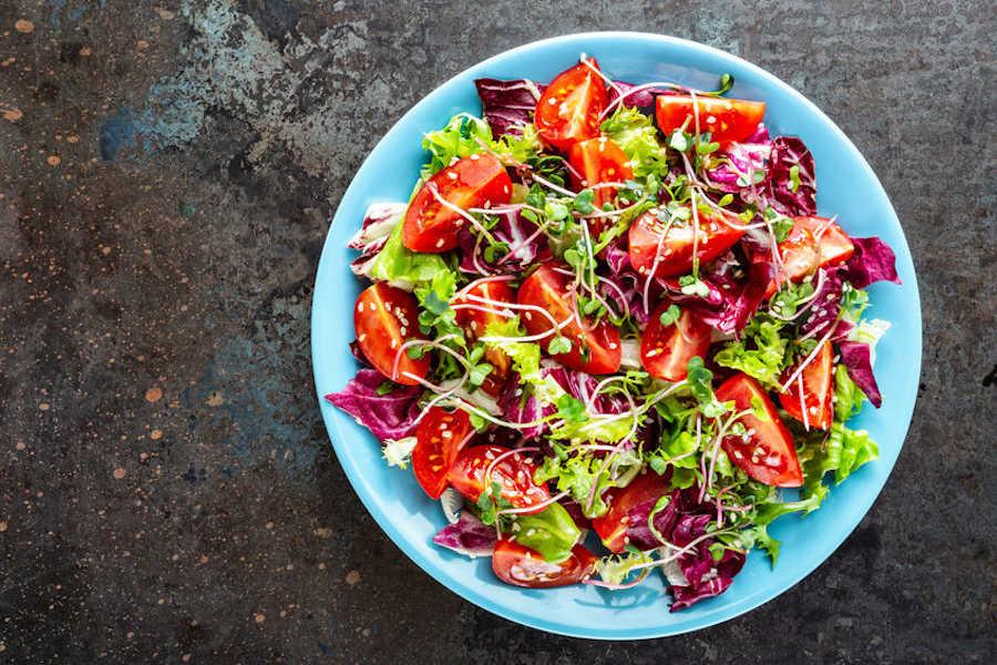 ensalada con germinados